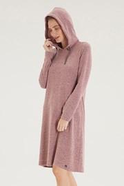Volnočasové růžové šaty Hoodie Dress