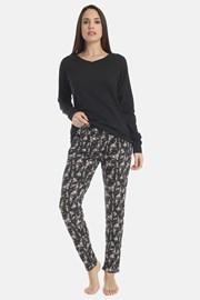 Dámské pyžamo Flowery black