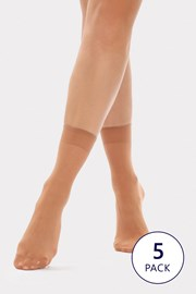 5 PACK silonových ponožek Nylon 20 DEN