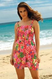 Plážové šaty Leafy Coral