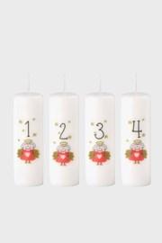 Sada 4 adventních svíček Anděl