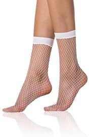 Módní síťované ponožky Bellinda NET bílé