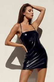 Rochie aspect de latex Beltis Black