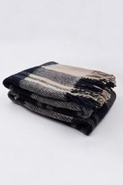 Luxus pléd új-zélandi gyapjúból, kék