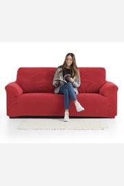 Pokrowiec na dwuosobową sofę Creta czerwony