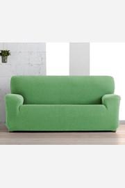 Husa Creta pentru canapea cu trei locuri, verde