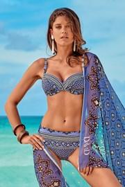 Dwuczęściowy kostium kąpielowy Elisea niebieskofioletowy