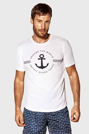 Bílé tričko Captain Blues