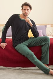 Černozelené pyžamo Larry