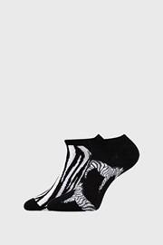 2 PACK dámských ponožek Zebra