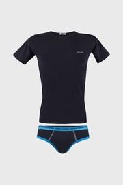 Modrý komplet chlapeckých slipů a trička
