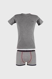 Šedý komplet chlapeckých boxerek a trička