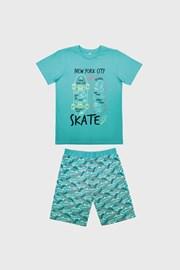 Chlapecké pyžamo Skate světle modré