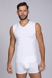 Bílé tričko bez rukávů