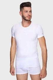 Λευκό βαμβακερό μπλουζάκι PLUS SIZE