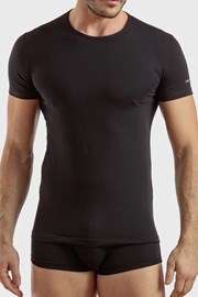 Černé bavlněné tričko PLUS SIZE