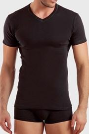 Pánské tričko černé V neck