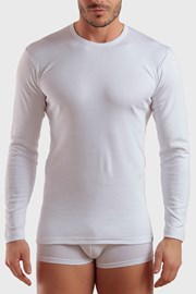 Pánske tričko s dlhými rukávmi biele