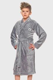 Халат за момчета Elegant сив