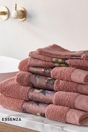 Ručník Essenza Home Fleur tmavě růžový