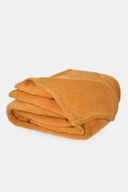 Mikroplyšová deka hořčicová
