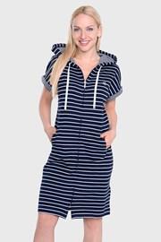 Noční košile Ralph Lauren Navy Stripe
