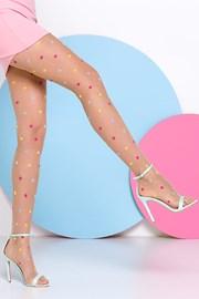 Dámské punčochové kalhoty s puntíky Joy 20 DEN