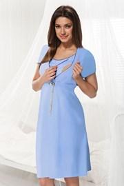 Mateřská, kojicí košilka Dorota modrá