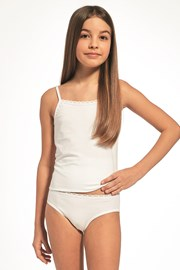 SET dívčího tílka a kalhotek bílý