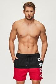 Černočervené koupací šortky DKNY Naxos