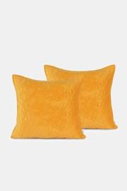Sada 2 ks povlaků na polštářek žlutá