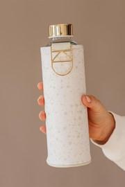Szklana butelka z pokrowcem ze sztucznej skóry EQUA Essence 750 ml