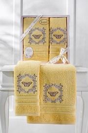 Dárková sada ručníků žlutá
