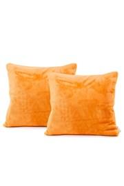 Komplet 2 poszewek na poduszki pomarańczowy