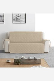 Moorea háromszemélyes kanapé takaró, bézs