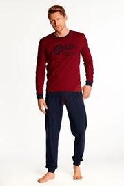Červenočerné pyžamo Optim