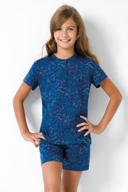 Dívčí pyžamo Jednorožec modré II
