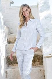 Dámské pruhované pyžamo s dlouhým rukávem