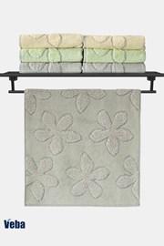 Luxusní ručník VEBA Primavera šedý