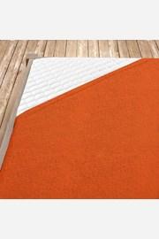 Napínací froté prostěradlo oranžové