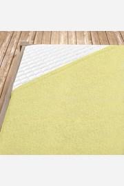 Frottír gumis lepedő, világos-sárga
