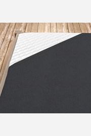Napínací froté prostěradlo tmavě šedé