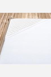 Białe bawełniane prześcieradło z gumką