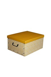 Skládací úložná krabice Nordic žlutá