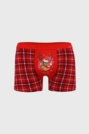 Červené vánoční boxerky Reindeer