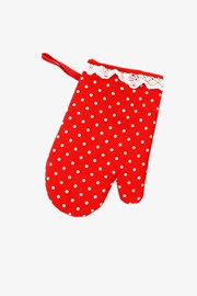 Kuchyňská rukavice červený puntík