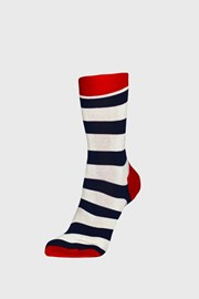 Ponožky Happy Socks Stripe modročervené