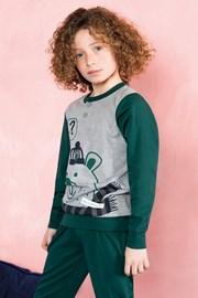 Chlapecké pyžamo Bear zelené