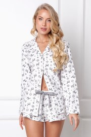Жіноча фланелева піжама Serene коротка