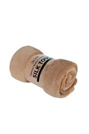 Koc Silk beżowy